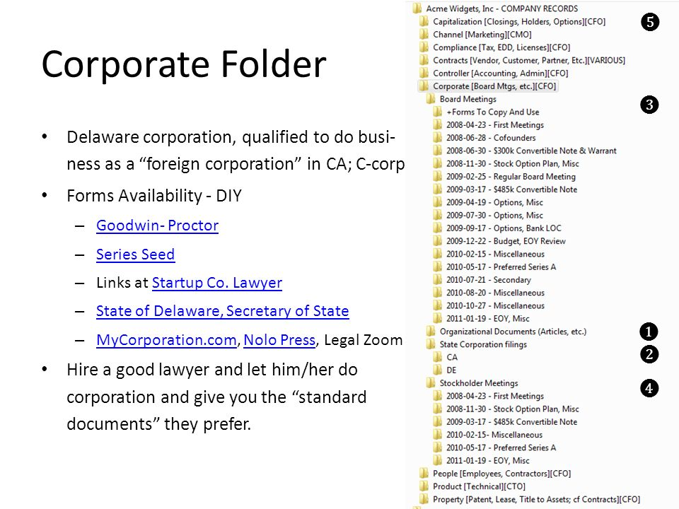 Capitalization Folder Each investment in the Company will be a Closing or Funding event.