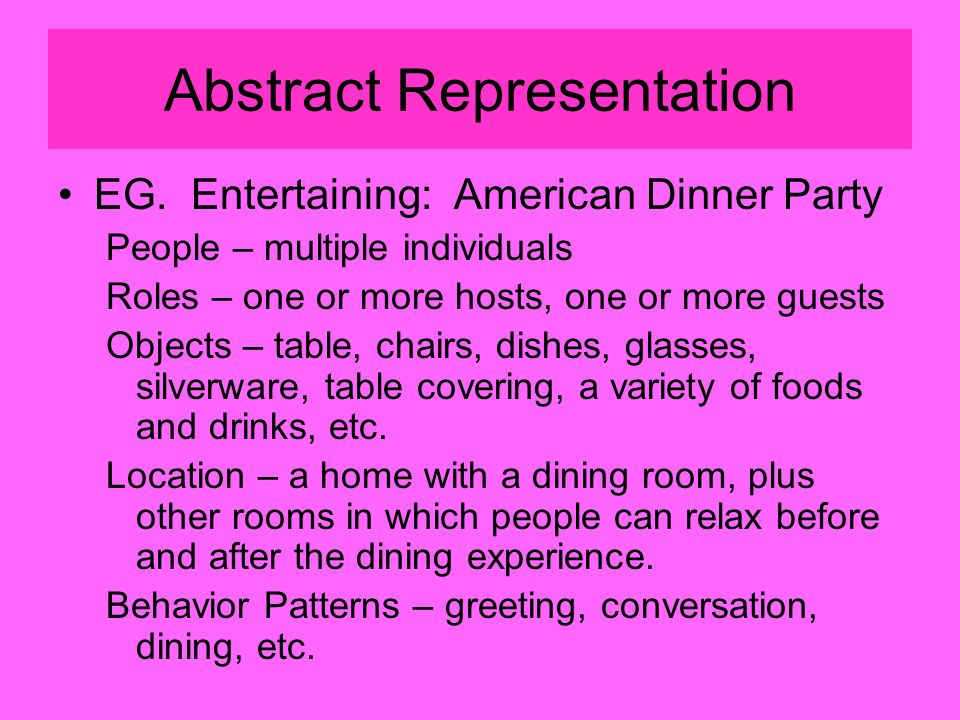 Abstract Representation EG.