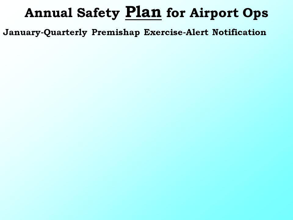 January-Quarterly Premishap Exercise-Alert Notification