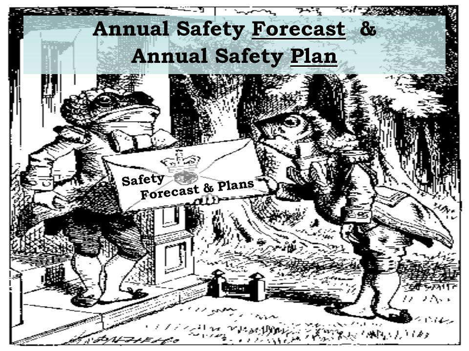 Forecast Annual Safety Forecast & Plan Annual Safety Plan Safety Forecast & Plans