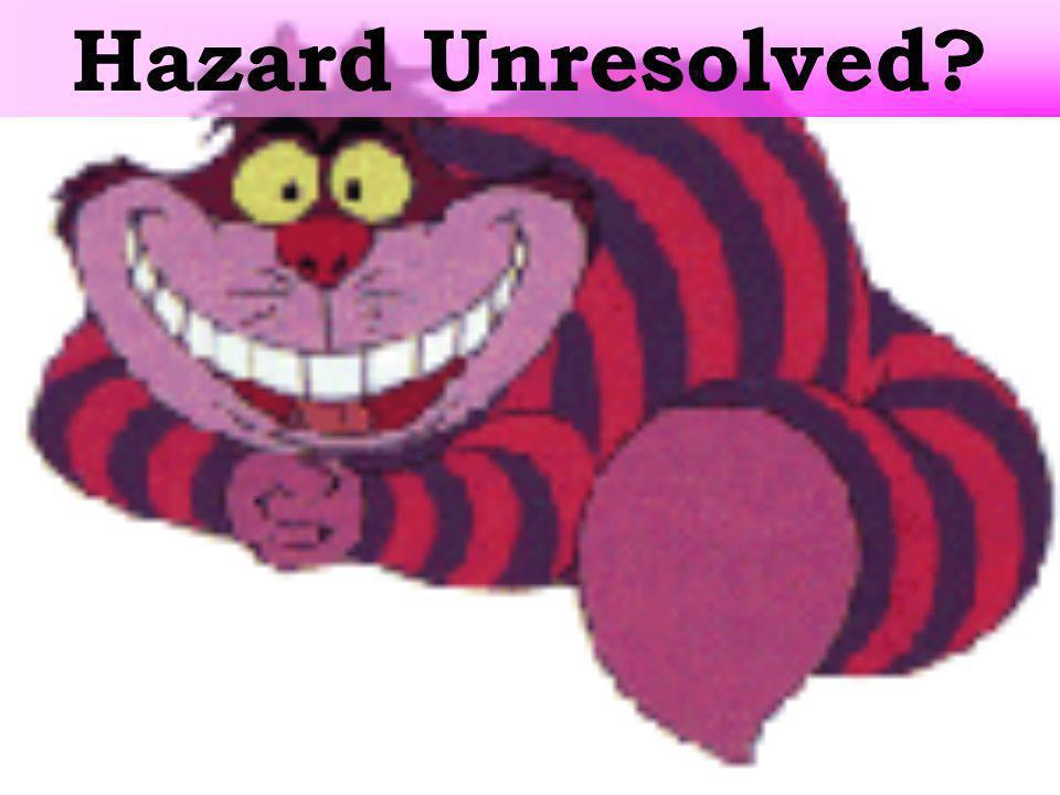 Hazard Unresolved?