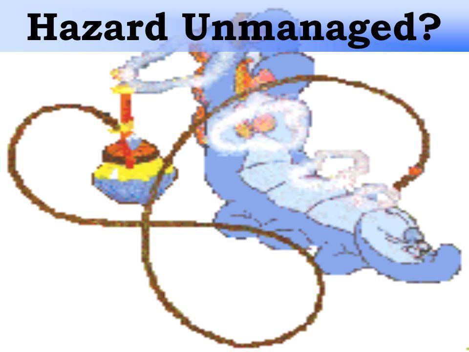Hazard Unmanaged?