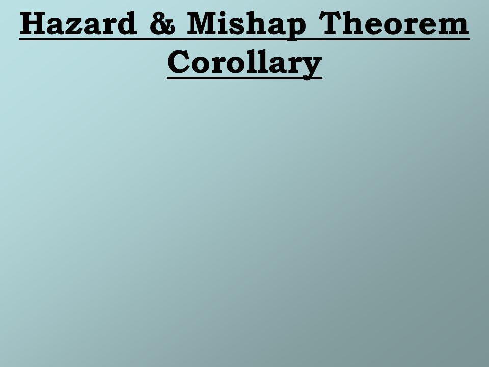Hazard & Mishap Theorem Corollary