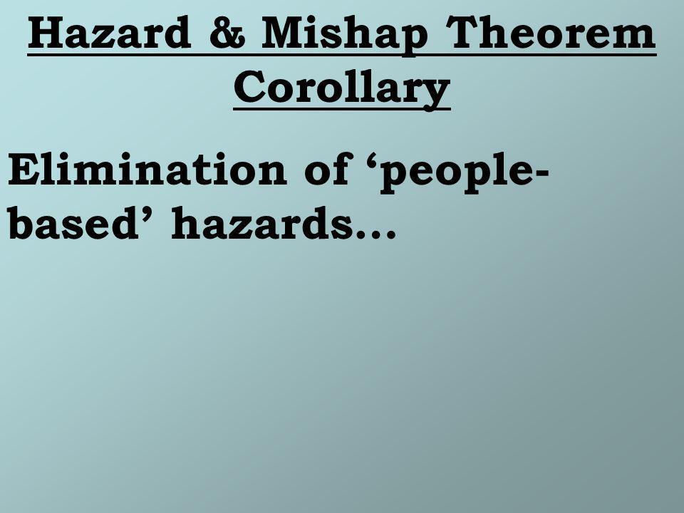 Elimination of people- based hazards…