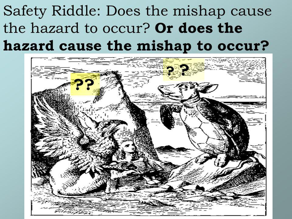 Safety Riddle: Does the mishap cause the hazard to occur? Or does the hazard cause the mishap to occur? ? ??