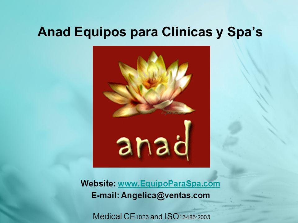 Sobre Anad Anad Equipos para Clinica y Spas., es uno de los mayores vendedores y líder especializada en la venta de dispositivos basados en la luz pulsada y radiofrecuencia.