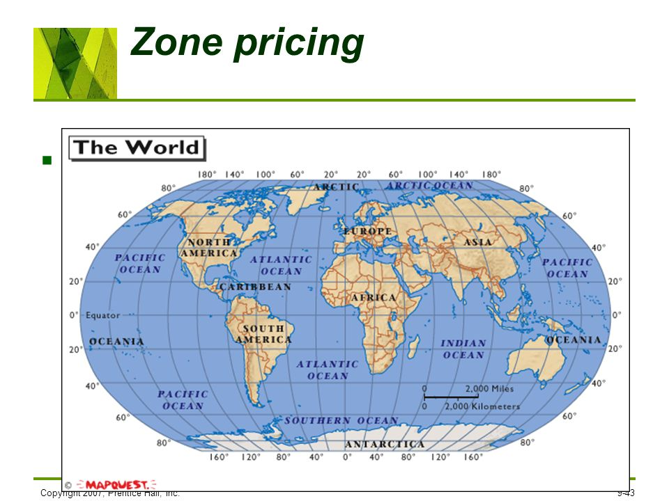 Zone pricing Zone pricing falls between FOB origin pricing and uniform delivered pricing. The company sets two or more zones. All customers within a g