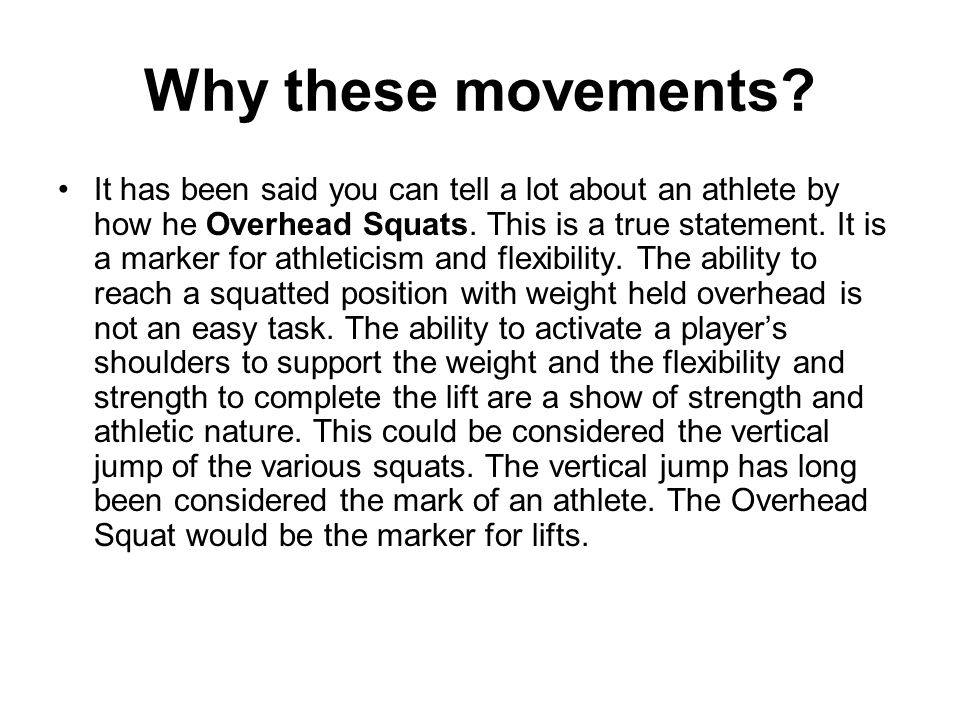 CrossFit Football Basic Movements The Split Jerk is the second part of the Clean and Jerk movement.