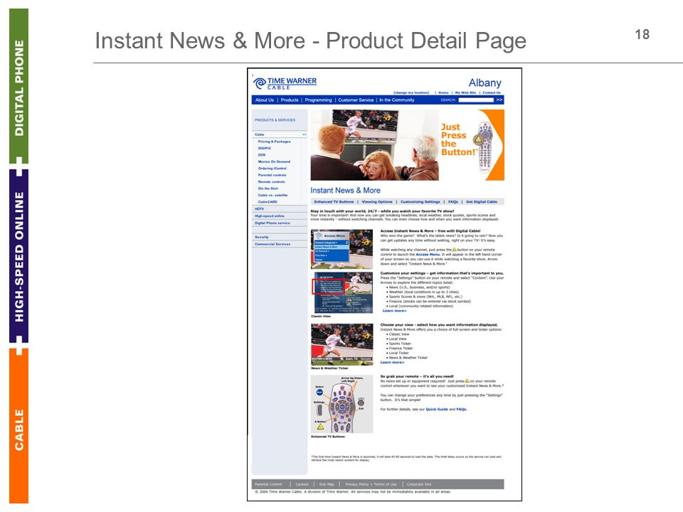 18 Instant News & More - Product Detail Page