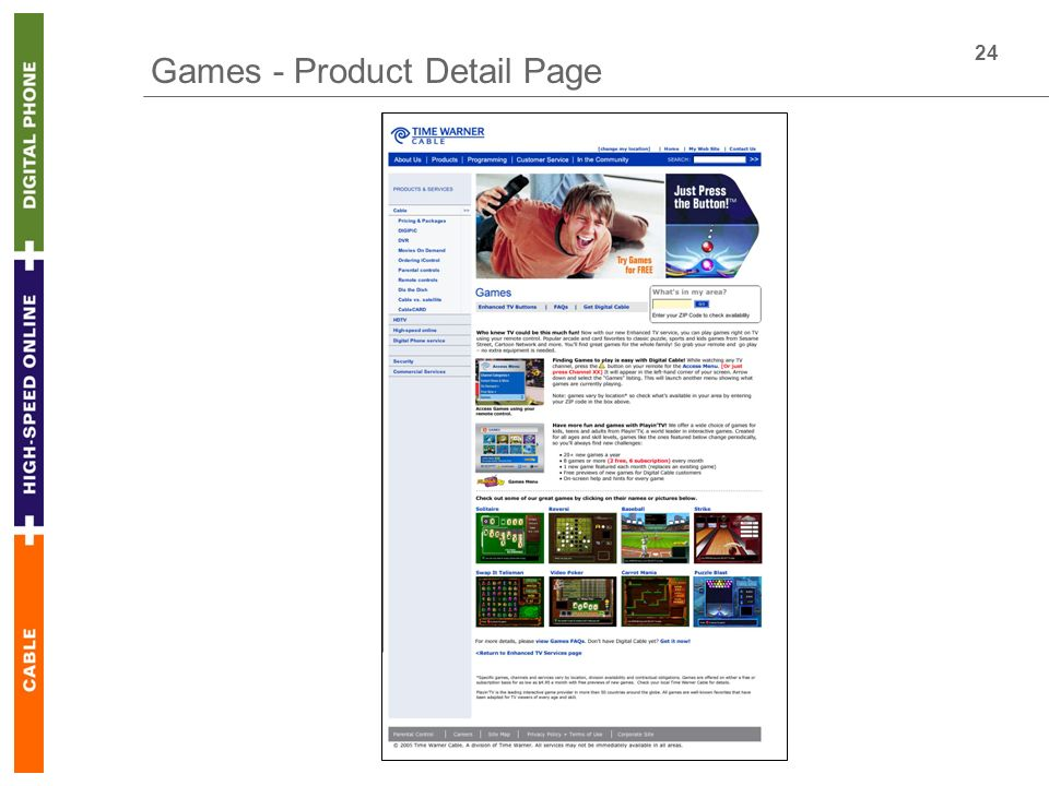 24 Games - Product Detail Page