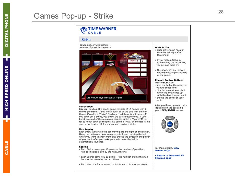 28 Games Pop-up - Strike