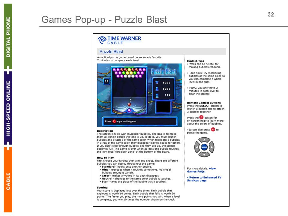 32 Games Pop-up - Puzzle Blast