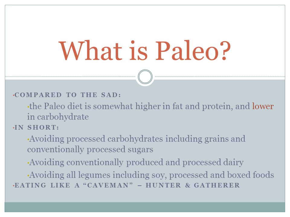 PALEO IS NOT: A low carb diet An excuse to eat healthy junk food Going to turn you into an actual Caveman The only way of life… New What Paleo is NOT:
