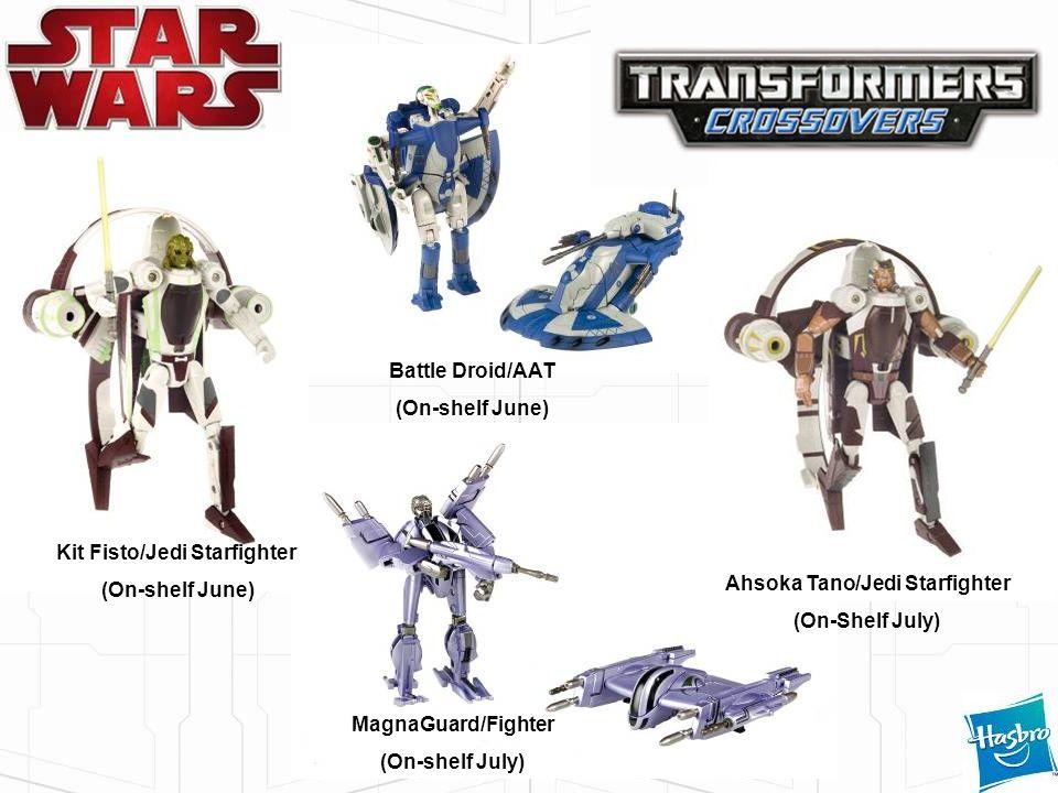 MagnaGuard/Fighter (On-shelf July) Kit Fisto/Jedi Starfighter (On-shelf June) Battle Droid/AAT (On-shelf June) Ahsoka Tano/Jedi Starfighter (On-Shelf