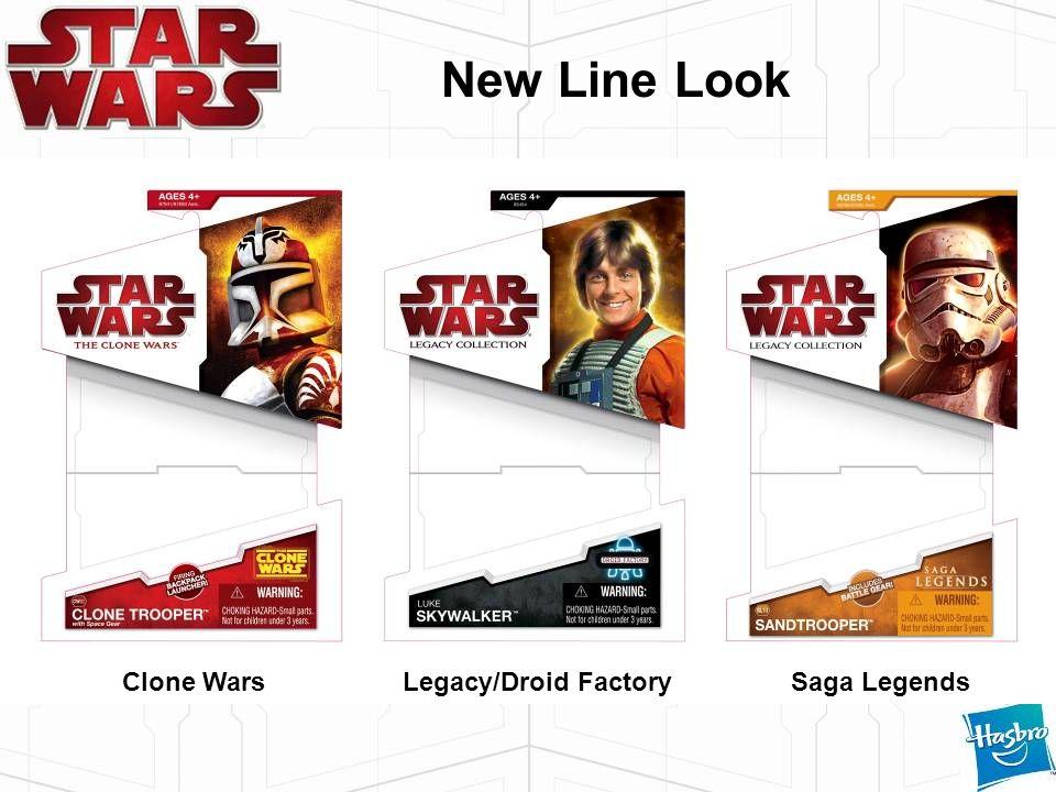 New Line Look Clone WarsLegacy/Droid FactorySaga Legends