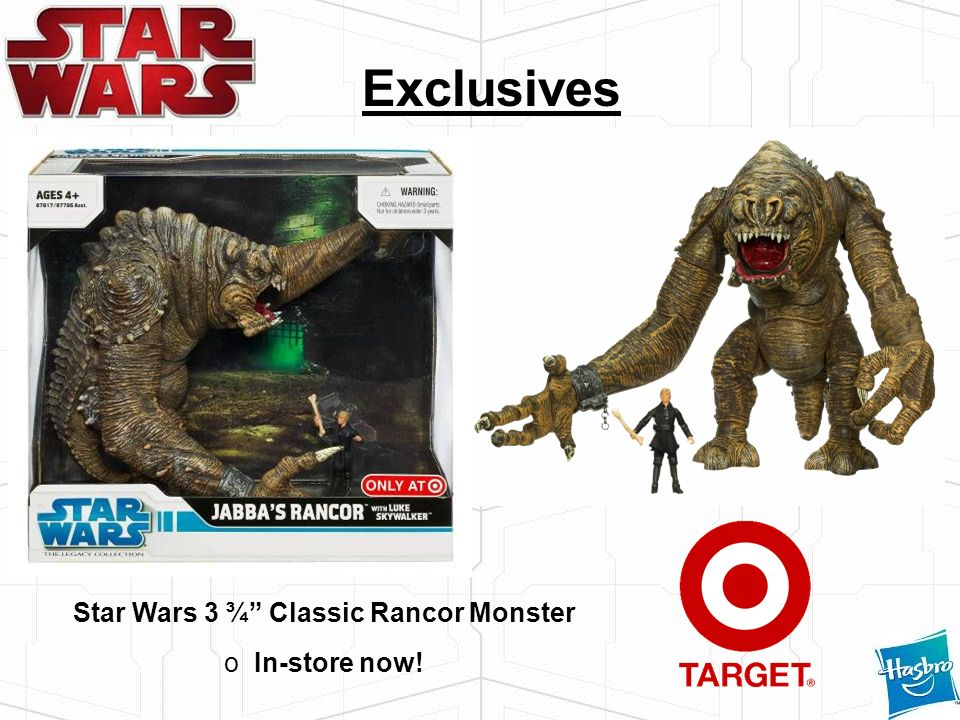 Star Wars 3 ¾ Classic Rancor Monster o In-store now! Exclusives