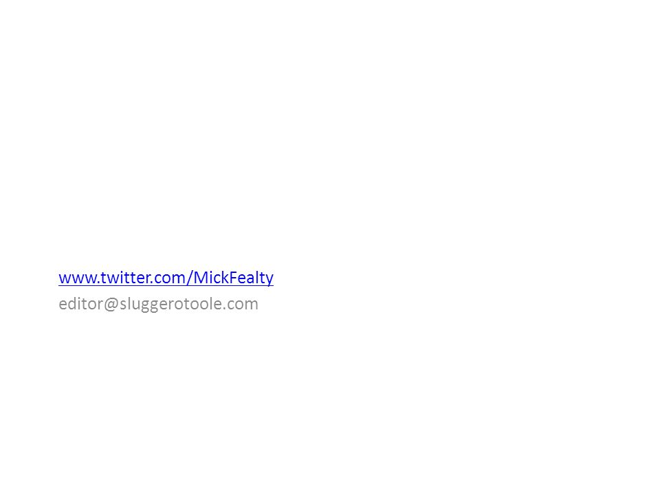 www.twitter.com/MickFealty editor@sluggerotoole.com