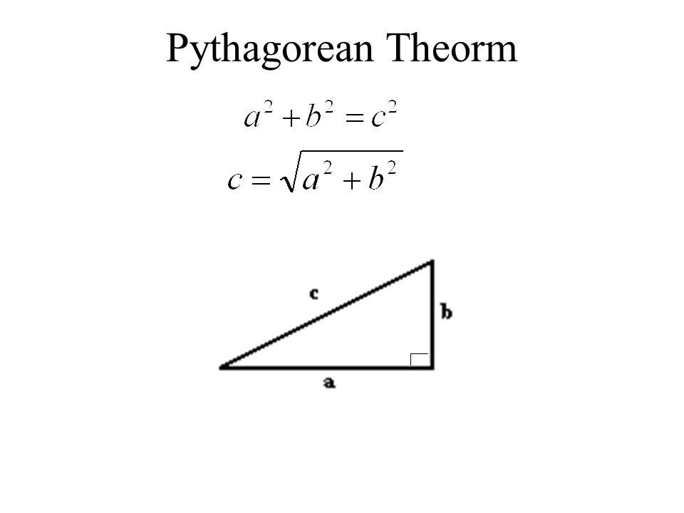 Pythagorean Theorm