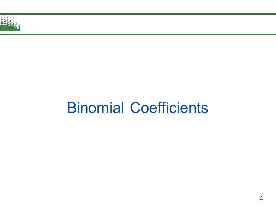 4 Binomial Coefficients