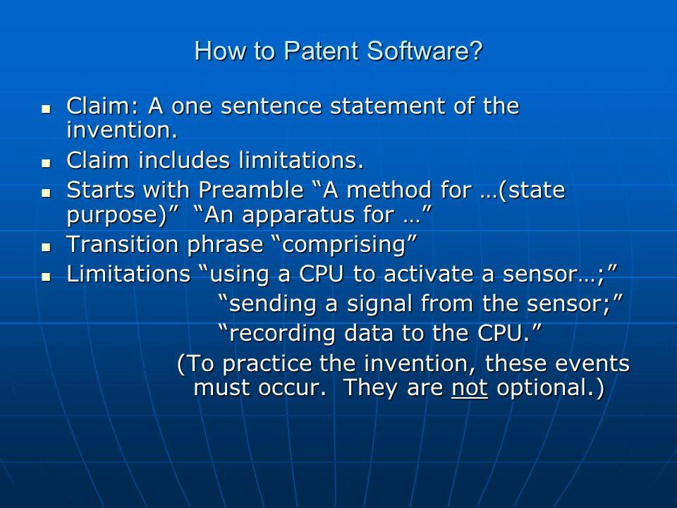 How to Patent Software.Mayo v. Prometheus Labs (2012) Mayo v.
