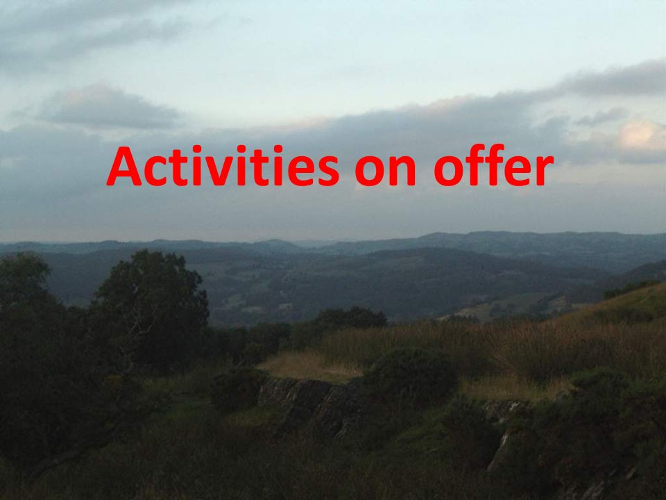 Activities on offer