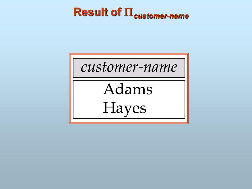 Result of customer-name