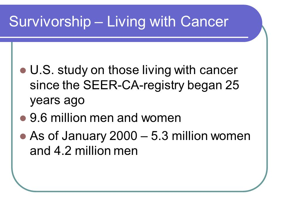 Survivorship – Living with Cancer U.S.