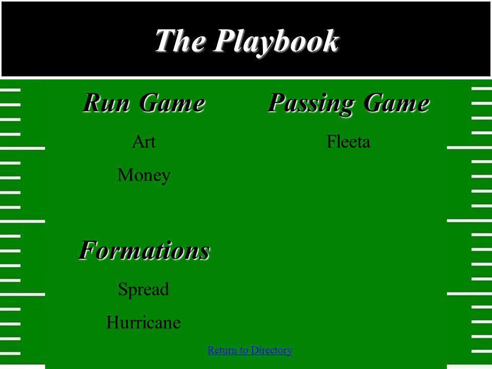 Return to Directory Run Game Art MoneyFormations Spread Hurricane Passing Game Fleeta The Playbook