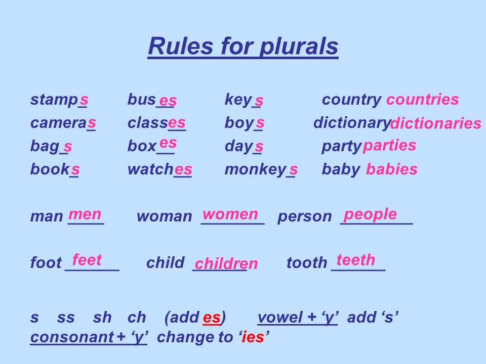 0ne girl Two girls 0ne box five boxes One key Two keys One baby Three babies One chair some chairs One watch Two watches One boy four boys One monkey Two monkeys One cup Two cups One house Two houses One lorry Two lorries One dictionary Two dictionaries