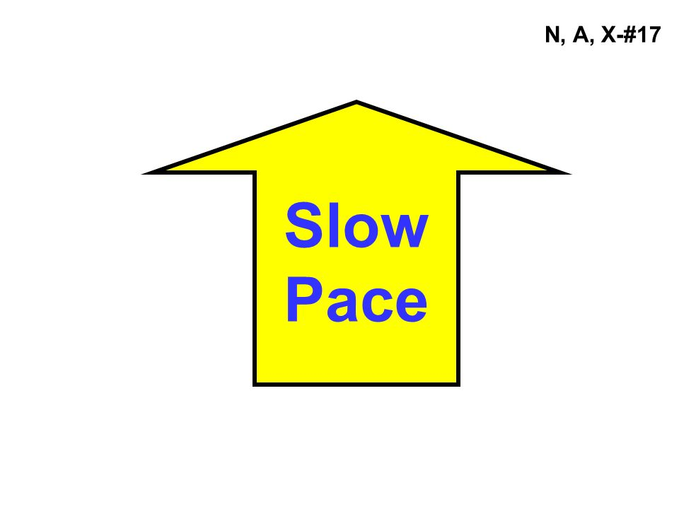Slow Pace N, A, X-#17