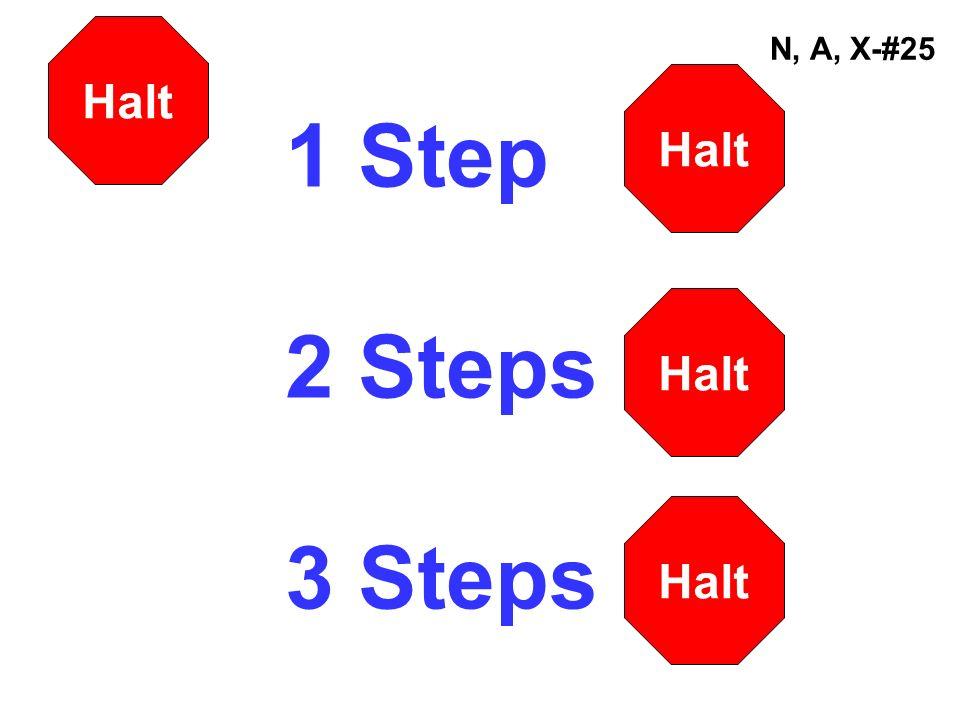 N, A, X-#25 1 Step 2 Steps 3 Steps Halt