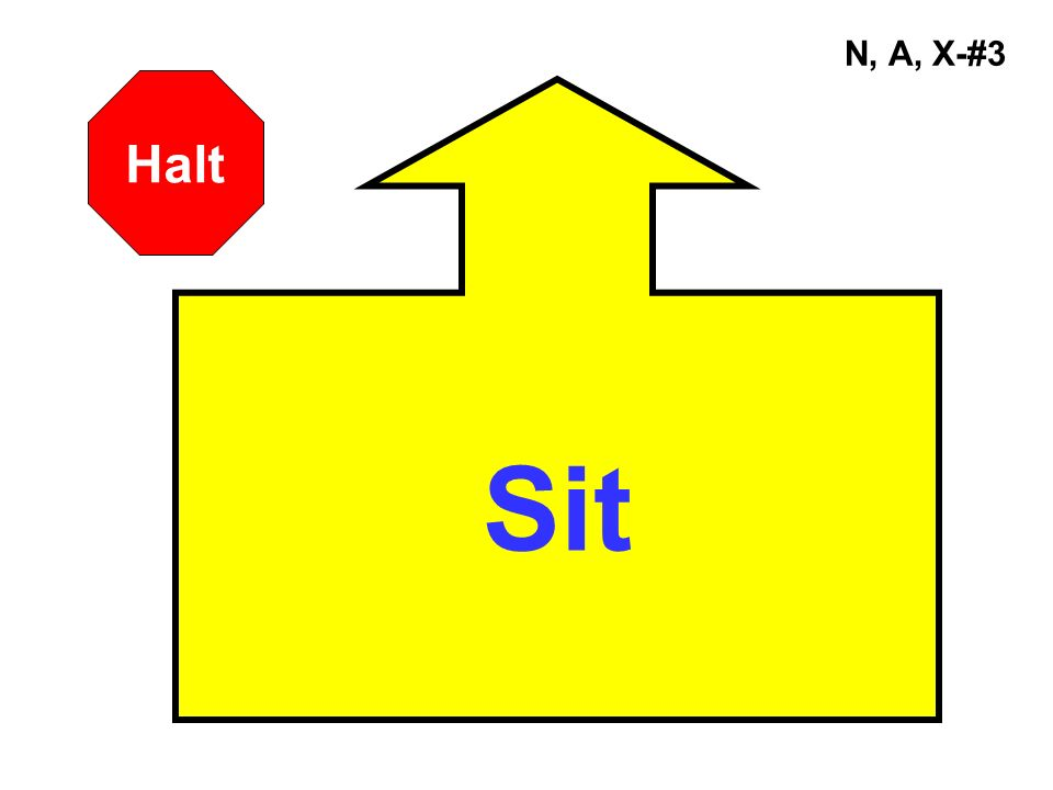 A, X-#44 180° Pivot Left Halt