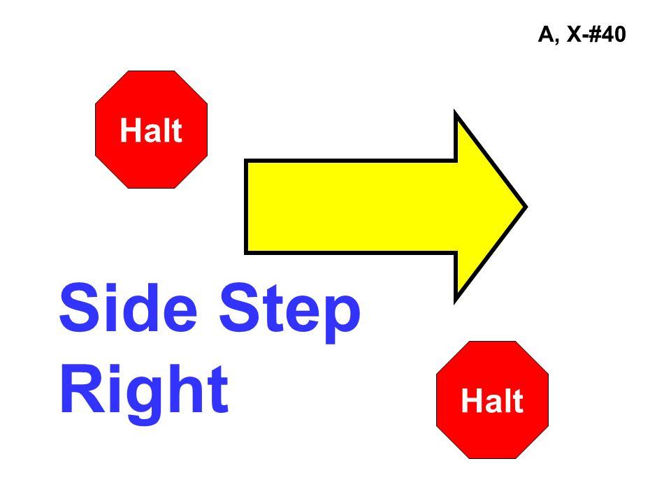 A, X-#40 Side Step Right Halt