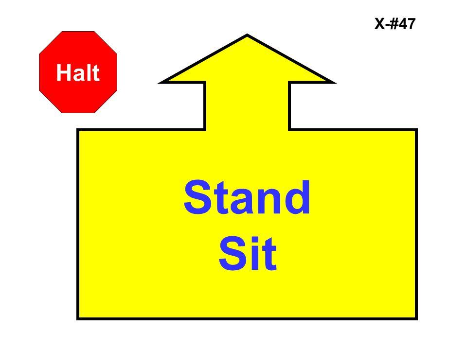 X-#47 Stand Sit Halt