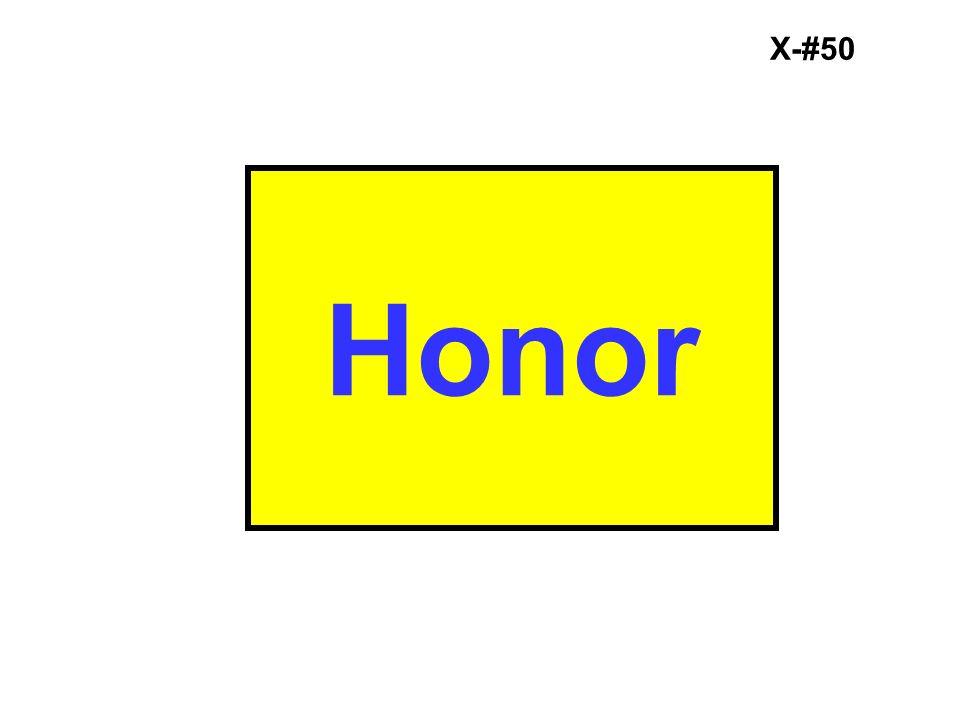 X-#50 Honor