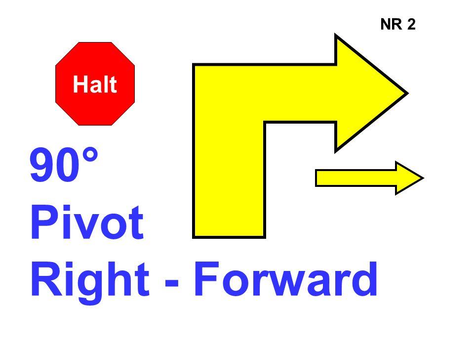 NR 2 90° Pivot Right - Forward Halt