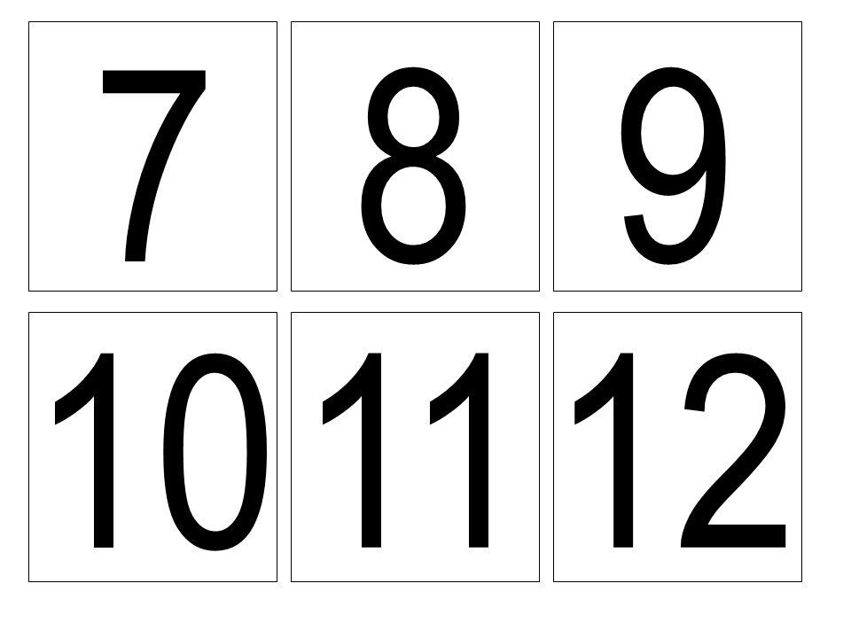 7 89 10 1112