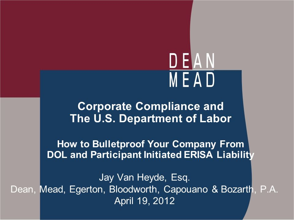 Corporate Compliance and The U.S.