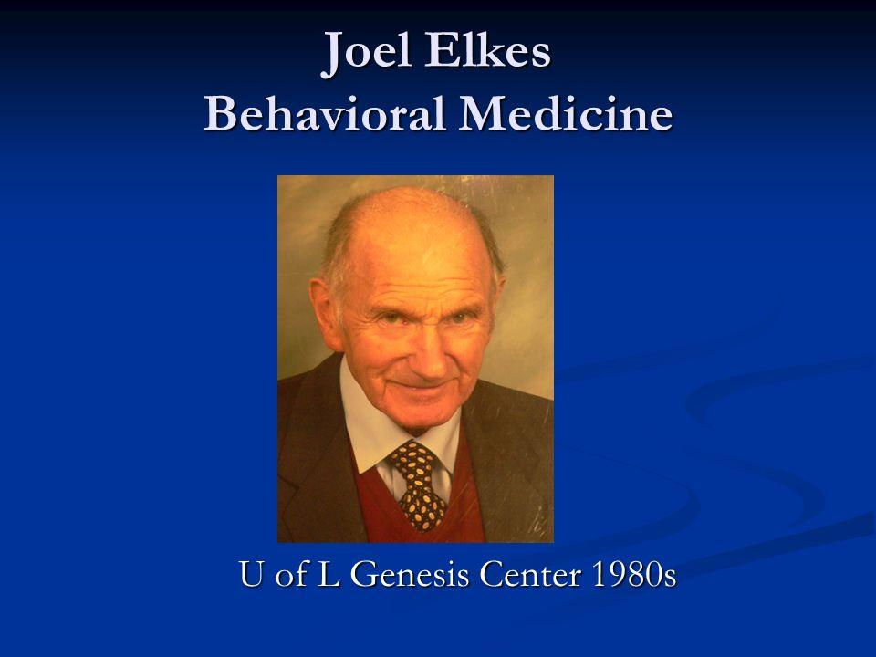 Joel Elkes Behavioral Medicine U of L Genesis Center 1980s U of L Genesis Center 1980s