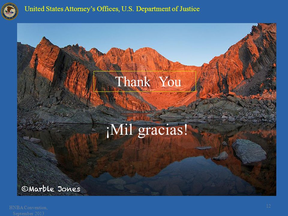 12 United States Attorneys Offices, U.S.