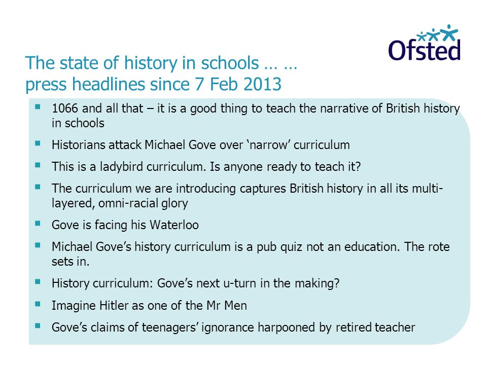 1066 and all that – it is a good thing to teach the narrative of British history in schools Historians attack Michael Gove over narrow curriculum This