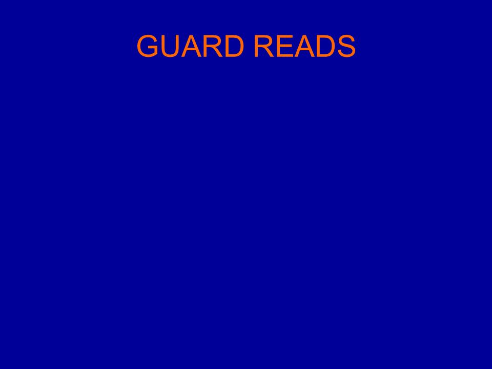 GUARD READS