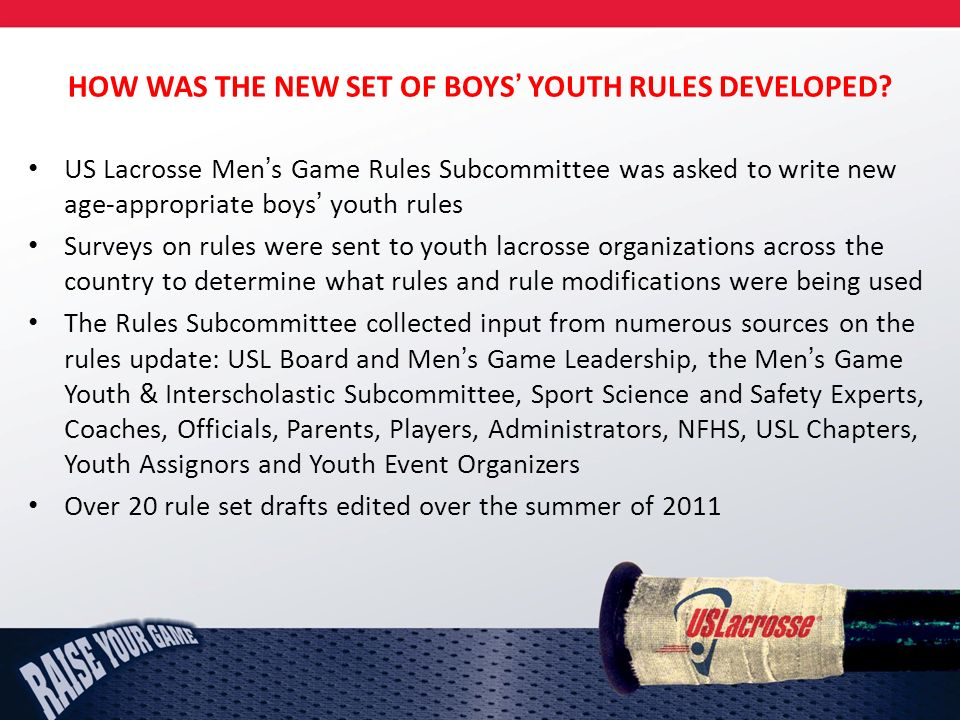 HOW WAS THE NEW SET OF BOYS YOUTH RULES DEVELOPED.