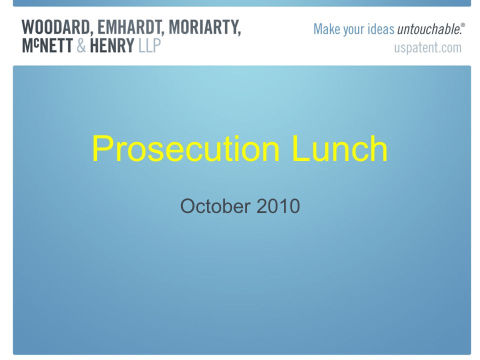 Prosecution Lunch October 2010