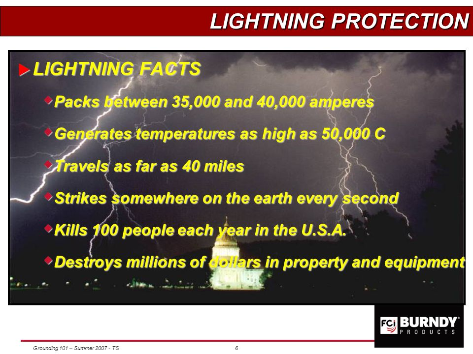 Grounding 101 – Summer 2007 - TS5 WHAT DO WE GAIN? Provides personnel safety - #1 priority Provides personnel safety - #1 priority Provides a stable s