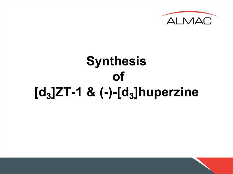 Synthesis of [d 3 ]ZT-1 & (-)-[d 3 ]huperzine