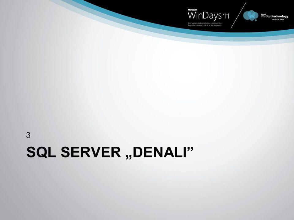 SQL SERVER DENALI 3