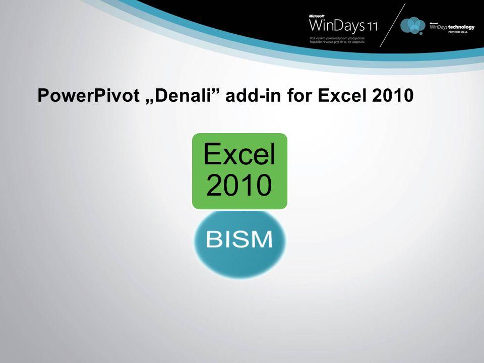 PowerPivot Denali add-in for Excel 2010