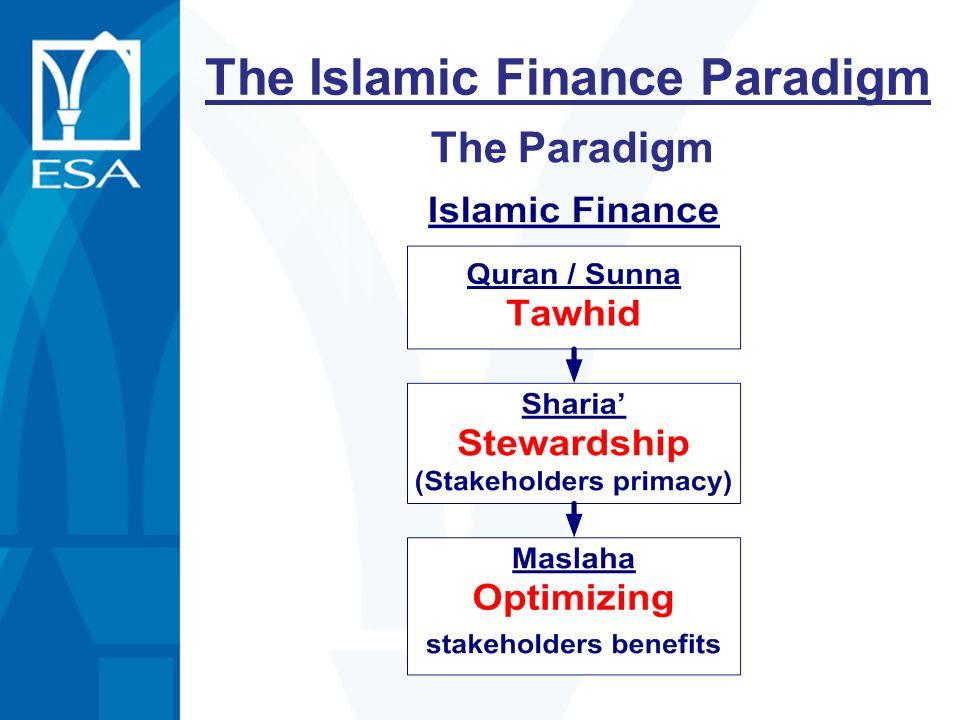 The Islamic Finance Paradigm The Paradigm
