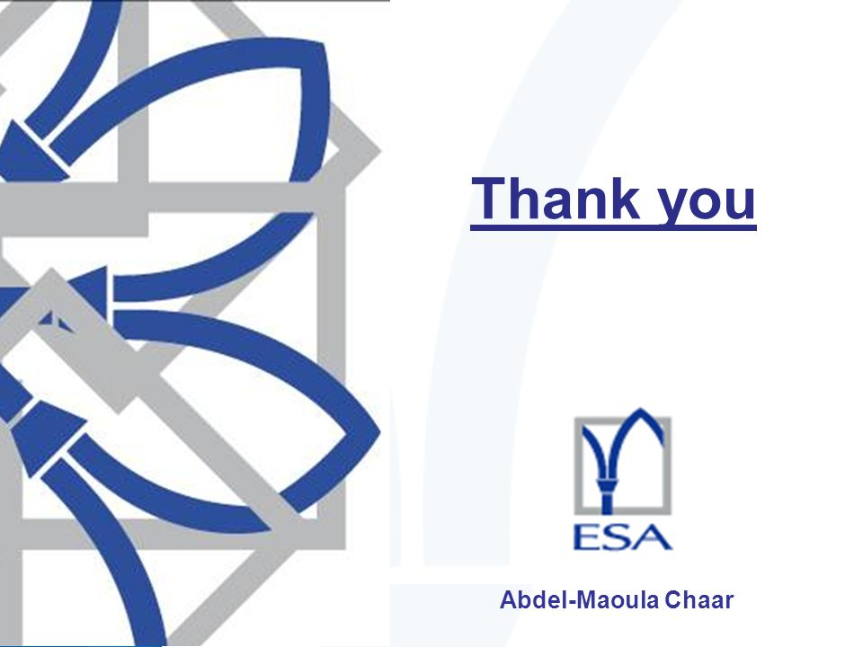 Abdel-Maoula Chaar Thank you